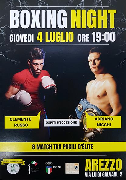 Volantino 04 Luglio 2019 Arezzo (Boxe Nicchi)